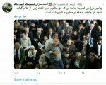 توییت مازنی در ارتباط برخورد نامناسب با یک شهروند در نمازجمعه